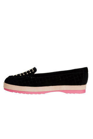 Studded Give A FAQ Loafer