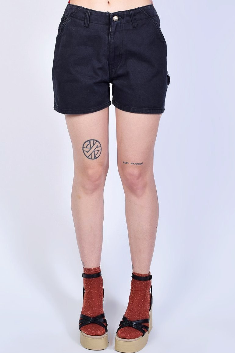 Deadstock Study Hall Denim Shorts - Charcoal