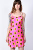 Sunflowers Mini Dress - Magenta