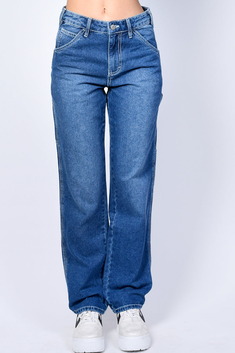 Denim Relaxed Carpenter Jeans by Dickies Girl