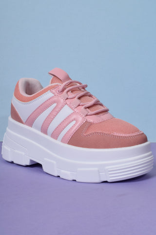 Missing In Action Platform Sneakers - Strawberry
