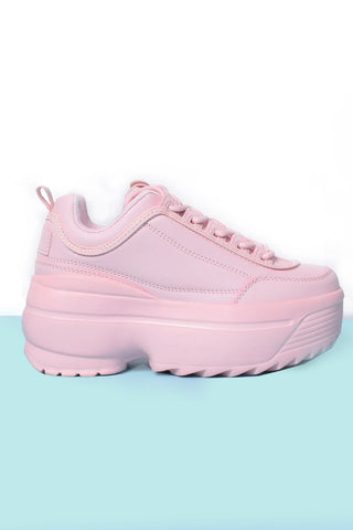 Tall Order Platform Sneakers - Bubblegum