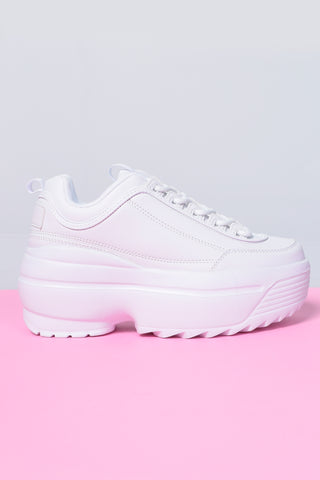 Tall Order Platform Sneakers - White