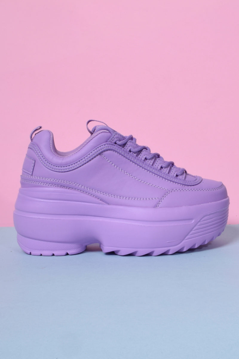 Tall Order Platform Sneakers - Grape