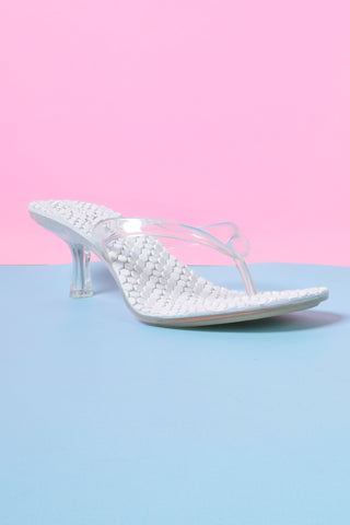 Thong Song Kitten Heel Sandal - Clear
