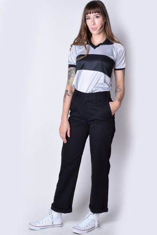 Black Rolled Hem Work Pant by Dickies Girl
