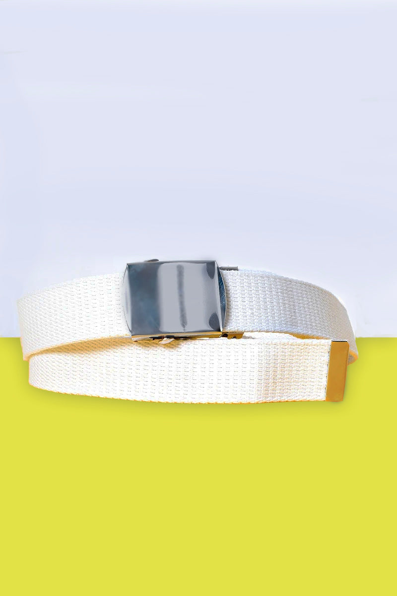 Tragic Kingdom Deadstock White Canvas Belt