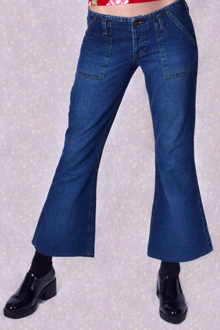 ECH Vintage 90s Cropped Flare Jeans