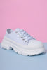 Down Low Platform Sneakers - White