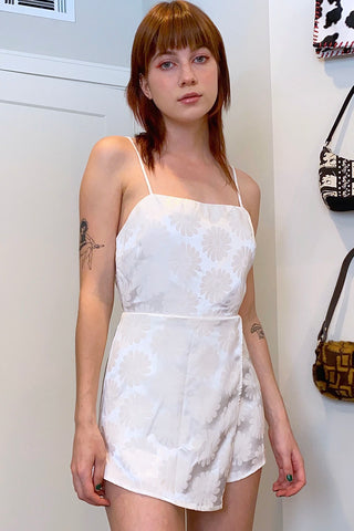 In Bloom Satin Romper - Ivory
