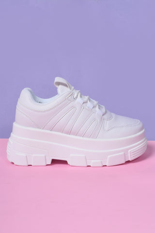 Missing In Action Platform Sneakers - Marshmallow