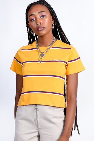 Yellow Tomboy Stripe Tee by Dickies Girl