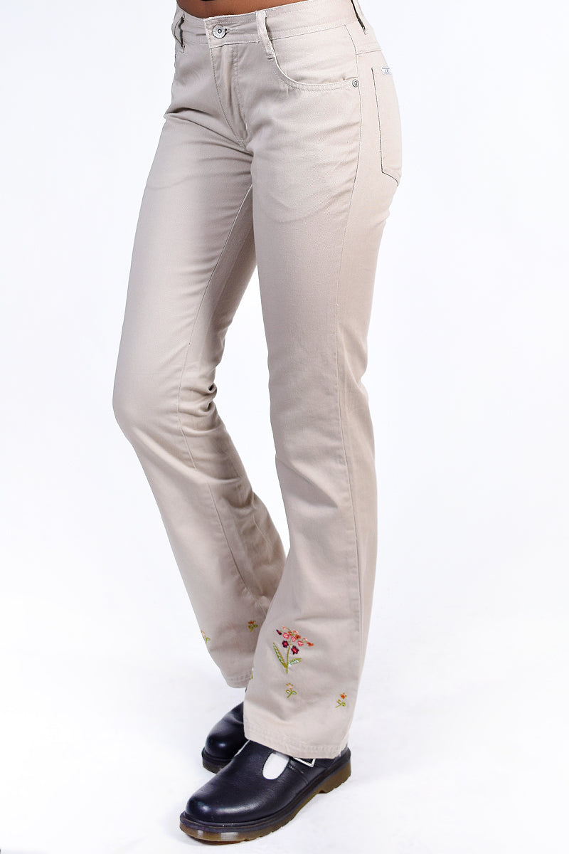 Deadstock Toby Embroidered Floral Flares