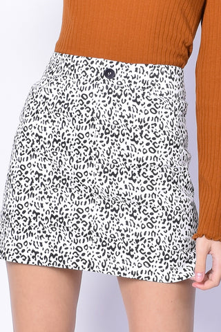 Zoë Leopard Print Mini Skirt