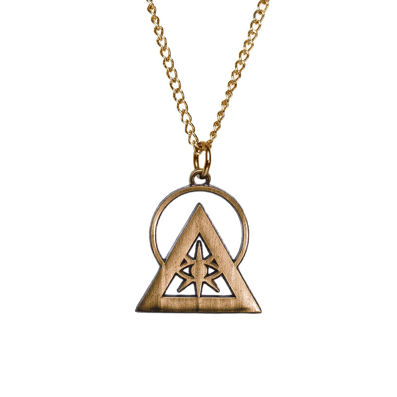 Antique Bronze Illuminati Talisman