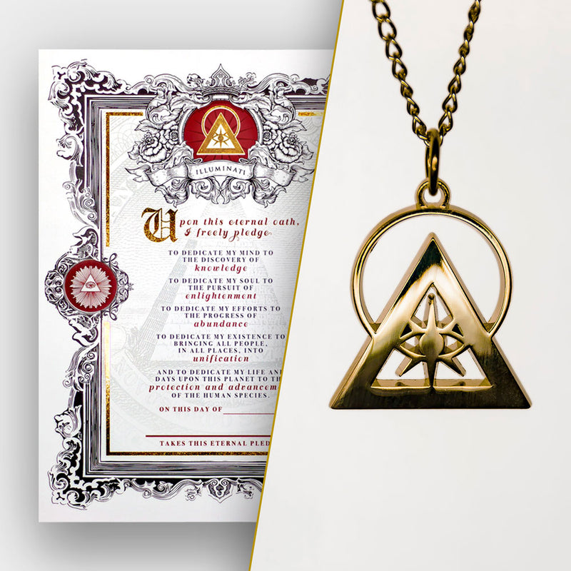New Initiate Package: Gold Illuminati Talisman & Eternal Oath