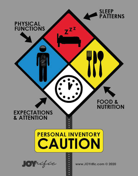 Personal Inventory JOYrific Caution Sign