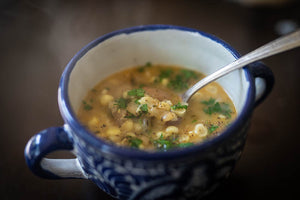 Pancetta, Corn, and Bean Soup