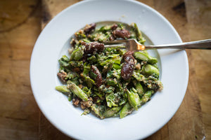 Runner Bean and Raw Asparagus Salad