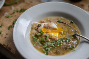 Cassoulet Bean Soup with Guanciale and Capers