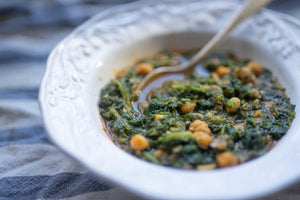 Garbanzos, Spinach and Smoked Paprika