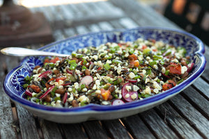 Yellow Indian Woman Bean and Wild Rice Salad