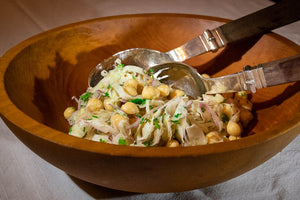 Garbanzo Salad with Shaved Red Onions and Fennel