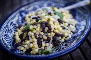 Corn with Black Beans and Epazote
