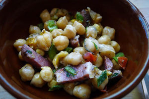 Garbanzo Bean and Tasso Ham Salad