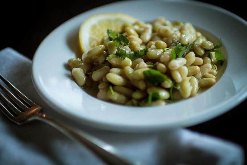 Flageolet Beans with Lemon Dressing