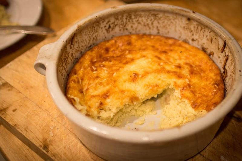 Savory Bean and Egg Pudding