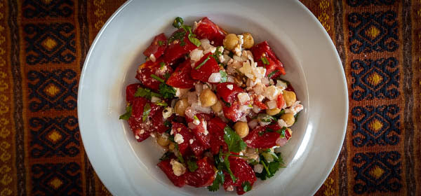 Garbanzo, Tomato and Feta Salad