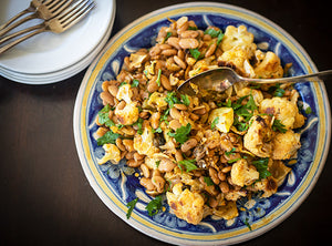 Cauliflower with Cassoulet Beans and Capers