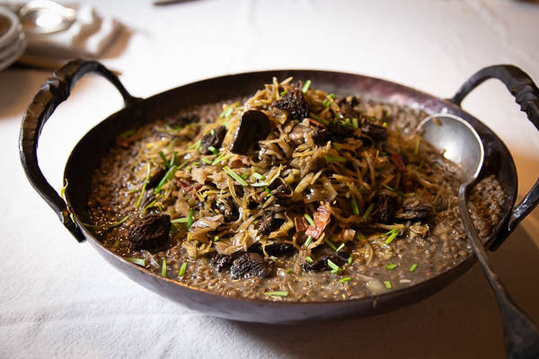 Lentils with Cabbage and Morel Mushrooms