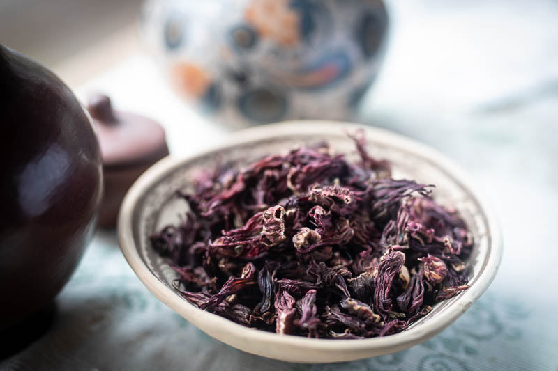 Dried Jamaica (Hibiscus), a dark red flower - Rancho Gordo