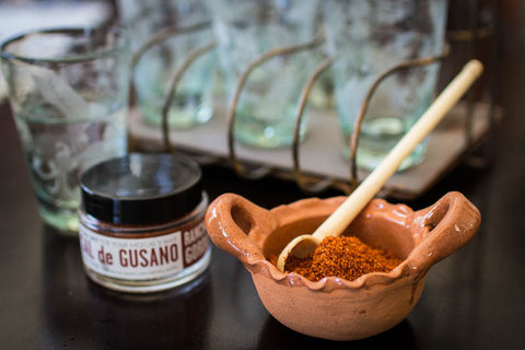 Sal de Gusano ( Worm Salt ), a dark red powder  - Rancho Gordo