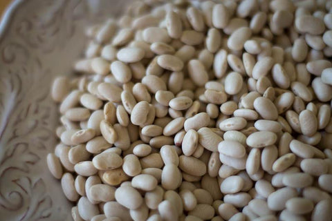 Alubia Blanca, a small white bean-Rancho Gordo, Heirloom beans.
