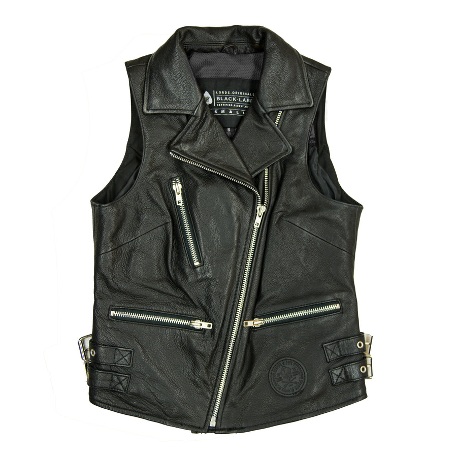 The Fiona Ladies Riding Leather Vest