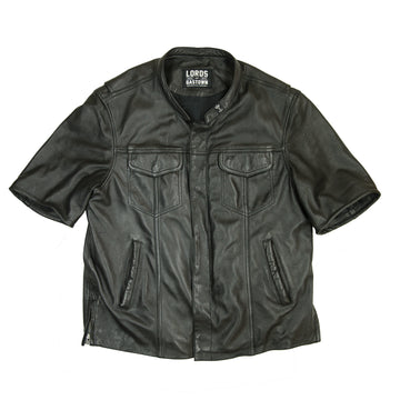 Big Juice Short Sleeve Leather Shirt