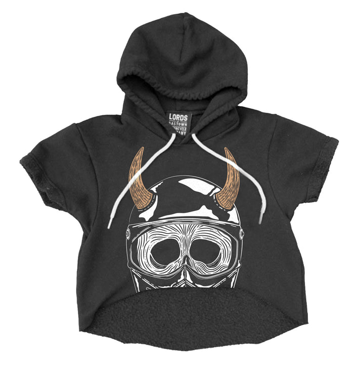 She Devil Cropped Pullover Hoodie