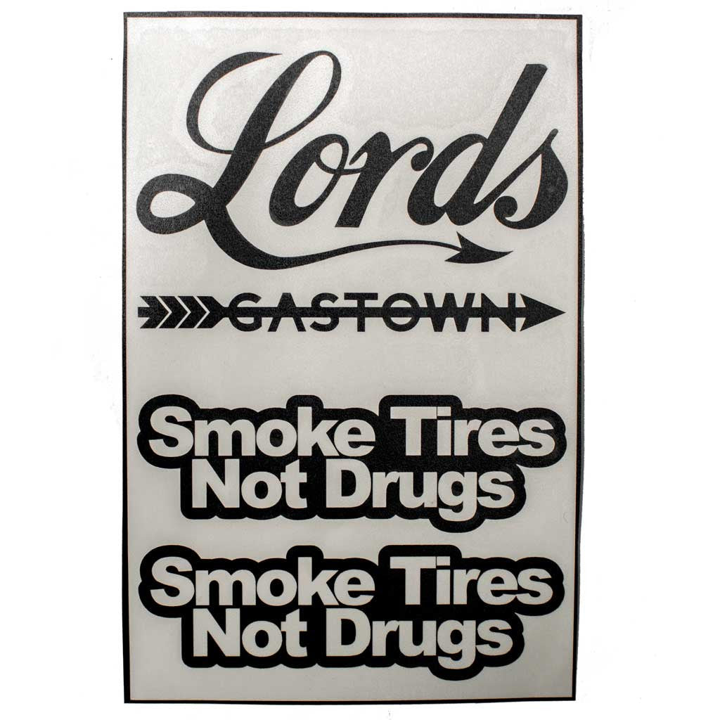 Black Smoke Tires Decal Pack