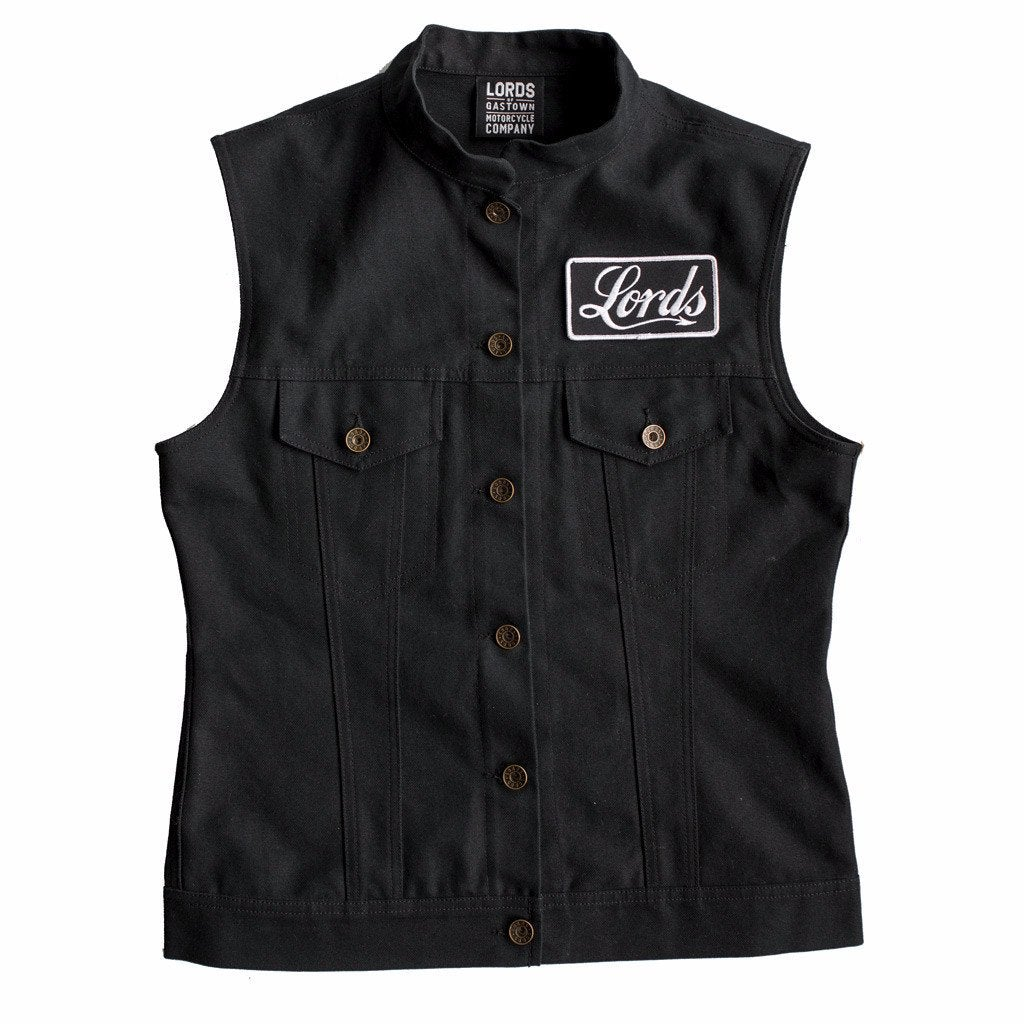 Throttle Doll Women's Canvas 14oz Vest - Black