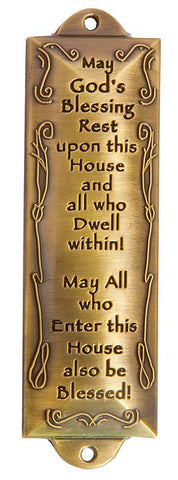 House Blessing Brass Mezuzah