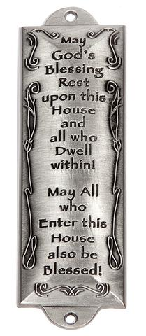 House Blessing Pewter Mezuzah