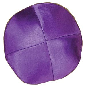 Kippah - Satin Purple, Medium