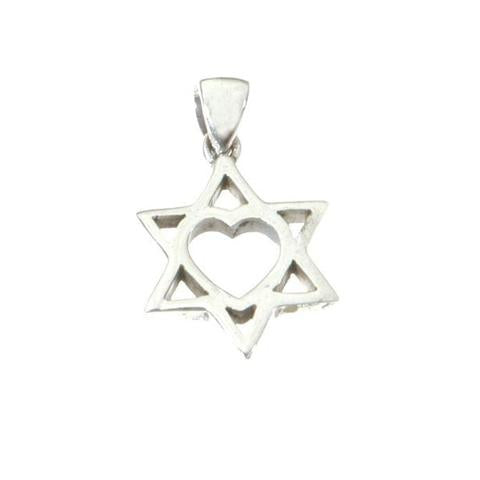 Heart within the Star of David Necklace