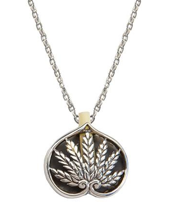 Necklace - Ruth Scroll Pendent