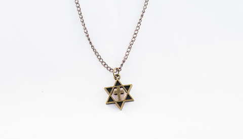 Necklace - Star & Cross - Bronze