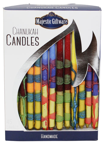 "Chanukah Candles ""Multi-Colored/Metallic Gold"""