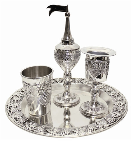 Nickel Plated Havdalah Set